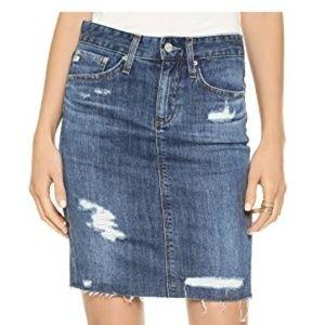 AG Erin Pencil Skirt (denim)